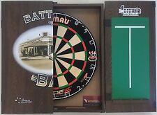 Winmau DUAL CORE Blade 5 FIVE Dart Board & Battlers Bar Cabinet + 6 x Darts