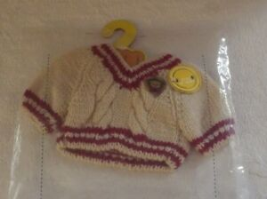 """Build A Bear Sweater Outfit Fits Bears 18"""" - 24"""" Brown Tan New"""