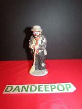 Emmett Kelly Jr Flambro Miniature Figurine Hobo Sweeping Up