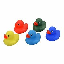 5 Rubber Colour Changing Ducks Fun Kids Bath Toy New Baby Duck Time Heat Squeaky