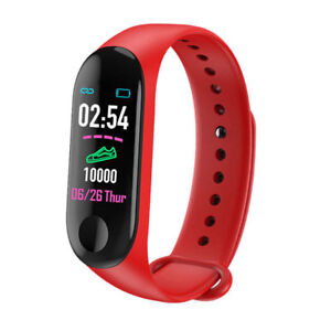 Fitness Watch Heart Rate Blood Pressure Monitor Activity Tracker M3 RED