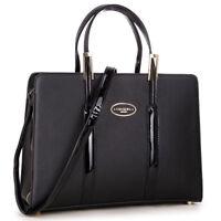 New Womens Handbag Leather Satchel Briefcase Tote Bags Shoulder Bag Laptop Purse