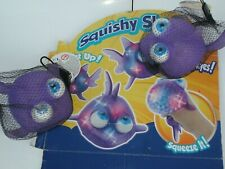 13CM Squishy Big Shark Purple, moving eyes Squeeze Toys Collection Charm