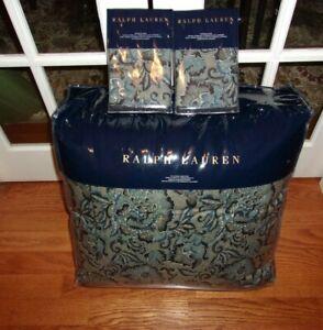 New Ralph Lauren Journey's End Rainey Full/queen Comforter & Shams 3pc