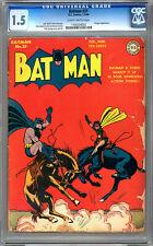 BATMAN #21 CGC 1.5 CLASSIC GOLDEN AGE PENGUIN APP *DICK SPRANG COVER & ART 1944