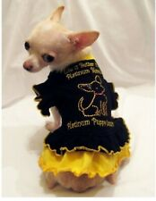 Dog Dress/Dog Clothing/Dog T shirt/ Blond Ruffle Dog Dress-XS,S,M, L FREE SHIP