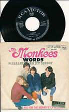 """THE MONKEES 45 TOURS 7"""" GERMANY WORDS"""