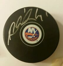 Jaroslav Halak New York Islanders autographed logo puck obtained in person