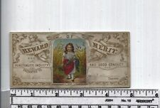Antique Reward of Merit - Rare Angelic Add-On Picture Card w Little Girl
