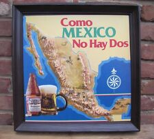 Vintage Budweiser Advertising Sign Como MEXICO No Hay Dos raised blow molded