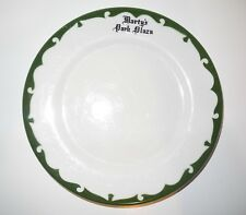 RARE Marty's Park Place Restaurant Ware Dinner Plate Airbrushed J M Seney