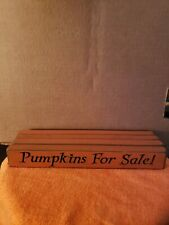 Rustic Primitive Country Wood sign engraved home decor amish made orange