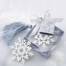 5PCs Stainless Steel Snowflake Bookmark Silver Tone Present Gift