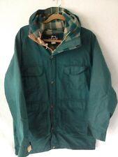 Vintage WOOLRICH 80s hooded ski jacket winter Green wool lined parka coat M