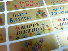 Happy Birthday Greeting Stickers, Labels for Cards, Envelopes HBG4715