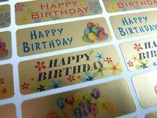 HAPPY BIRTHDAY GREETING adesivi, etichette per CARTOLINE, BUSTE hbg4715