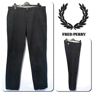 Fred Perry Men's Slim Fit Chino Trousers W36 L32