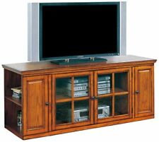 Leick Furniture 88162 Riley Holliday TV Stand-62-Inch-Burnished Oak