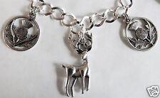 Charm Bracelet Choice 19-21Cm Scottish Icon Silver Tone Handmade