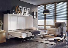 Wandklappbett Schrankbett Concept Pro 120x200 mit Matratze Weiß Hochglanz