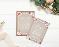Vintage Grey Save the Date Cards