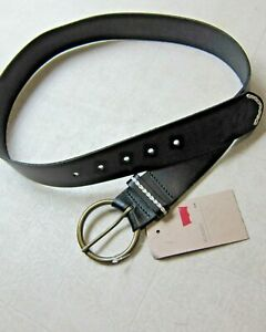 Levi's 100% Leather Belts For Men Black/Brown  Sz S/M - NWT