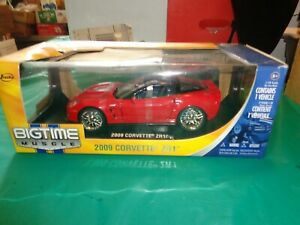 Jada Big Time Muscle Red 2009 Corvette ZR1 Die Cast 1:18 Scale New