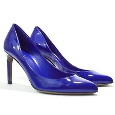Gucci - Sz 36 - Gloria Pump Blue Patent Leather Heels Stilettos - Made in Italy