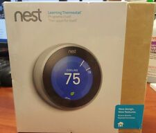 NEW! Nest T3007ES Learning Thermostat Stainless Steel