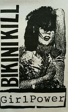 BIKINI KILL RIOT GIRL PUNK ROCK WHITE CANVAS BACK PATCH