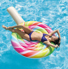Intex Giant Inflatable Lollipop Pool Float Air Mattress Lilo Beach Lounger Toy