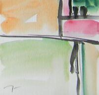 JOSE TRUJILLO - NEW ORIGINAL Watercolor Painting Abstract Minimalist CONCEPTUAL