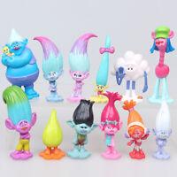 12 Pcs/Pack Movie Trolls Poppy Branch Action Figures PVC Toys Doll Toy Xmas Gift