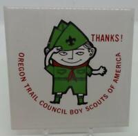 """BSA Scout Tile Square 4.25"""" - Oregon Trail Council Vintage Scout Thanks!"""