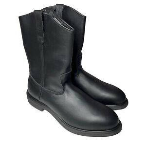 Red Wing PECOS Work Boots 1125 Mens 14 B Black Pull On Safety Toe Workwear New