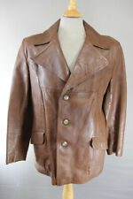 SUPERB VINTAGE 1970's SUEDE CENTRE SWEARS & WELLS BROWN LEATHER JACKET 42 INCH