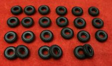 Very Small Treaded Tires for Dinky 60's, Misc., black, 14mm, Lot of 24, NEW!