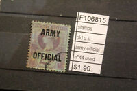STAMPS OLD U.K. ARMY OFFICIAL N°44 USED (F106815)