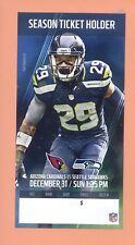 Arizona Cardinals at Seattle Seahawks 2017 ticket Earl Thomas III photo 12-31-17