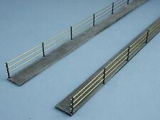 Gehweg mit Plattenbelag, 2 Stück , Spur 0, Bausatz cnc gefräst, Länge 616 mm