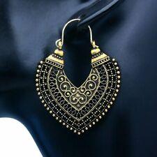 Retro Boho Heart Earrings Women Ear Hoop Dangle Dangle Punk Wedding Jewelry