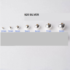 925 Sterling Silver round spacer beads 2mm, 3mm, 4mm, 5mm