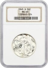 1945-S 50c NGC MS65 - Walking Liberty Half Dollar