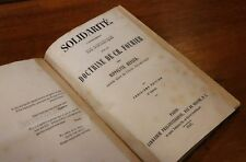 1847 Charles Fourier Hippolyte Renaud Solidarité Résumé doctrine fouriériste