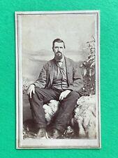 CASUAL CONFEDERATE CDV Photo Civil War Era MACON GEORGIA Young Man 1864 Soldier