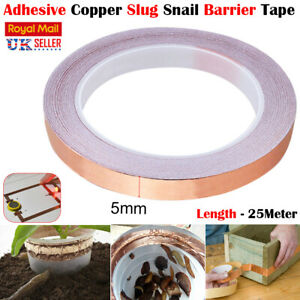 5/10/20MM length Copper Foil Tape self adhesive Conductive Strong EMI Shielding