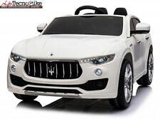 Auto macchina Elettrica 12V Per Bambini 2 posti Maserati Levante Bianco