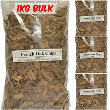 HOB French Oak Chips - 1KG BULK - Bourbon Whisky Yeast Home Brew Spirits EZ