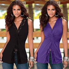 Hips Lace Regular V-Neck Tops & Shirts for Women