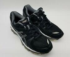 Asics Gel Kayano 18 Women's Running Shoes T250N Black/White/Gray Size 8.5 EUC!